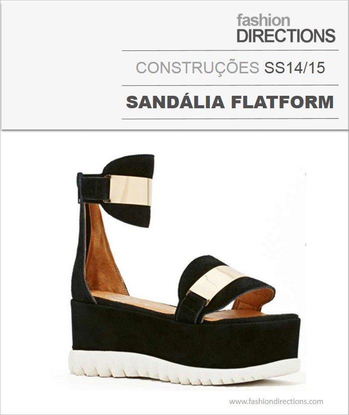 Construções Sandálias Flatforms Verão 14/15
