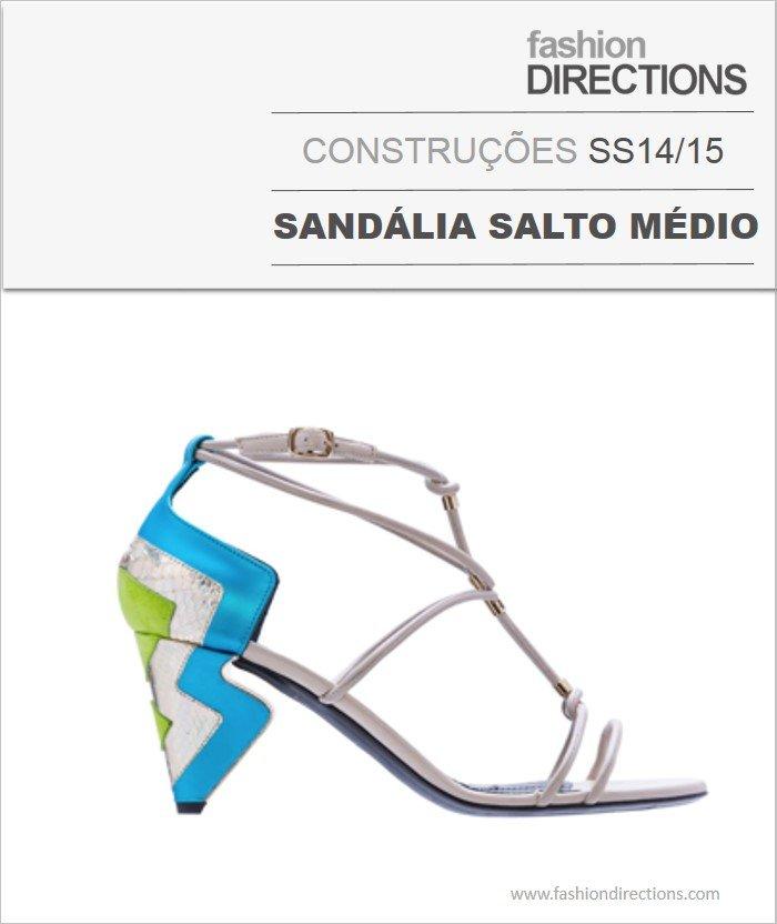 Construções Sandálias Salto Médio Verão 14/15