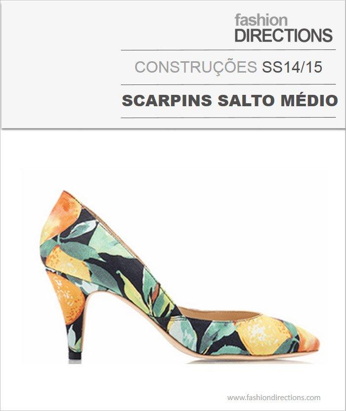 Construções Scarpins Salto Médio Verão 14/15