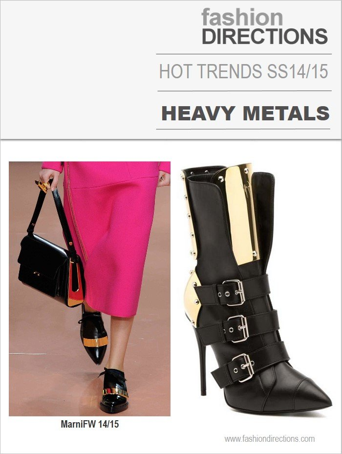Hot trends heavy metals verão 2014 2015 Fashion Directions
