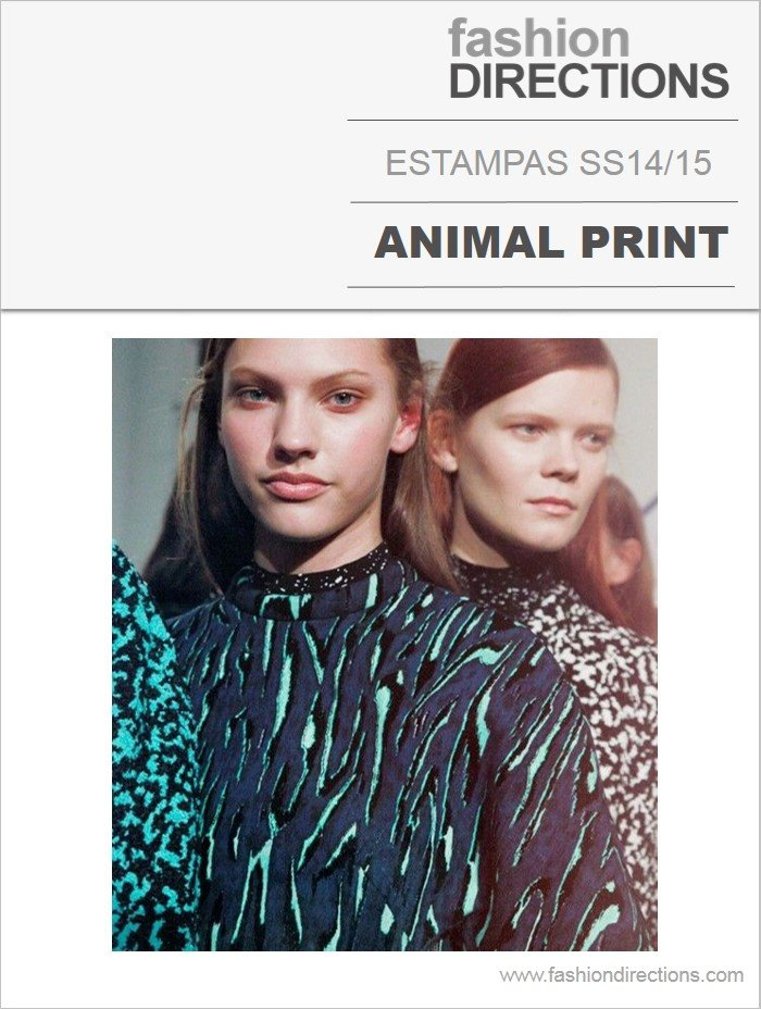 Estampas Animal print verão 2014 15