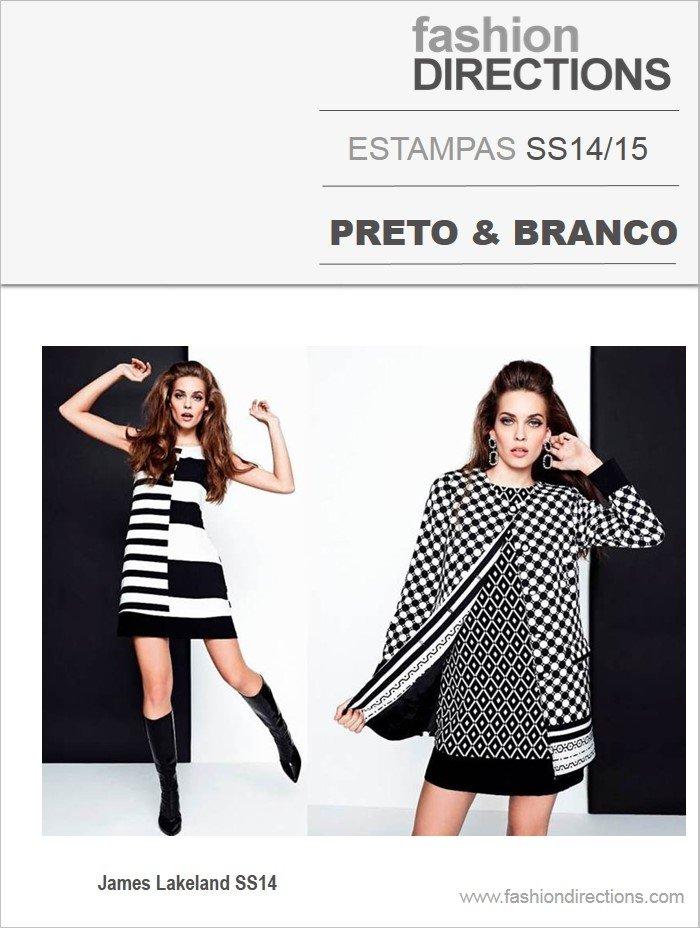 Estampas preto & branco verão 2014 15