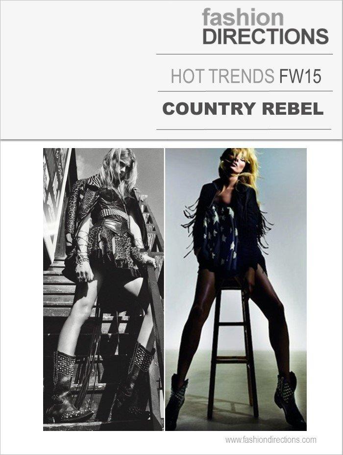 Country Rebel Tendências Inverno 2015 Fashion Directions