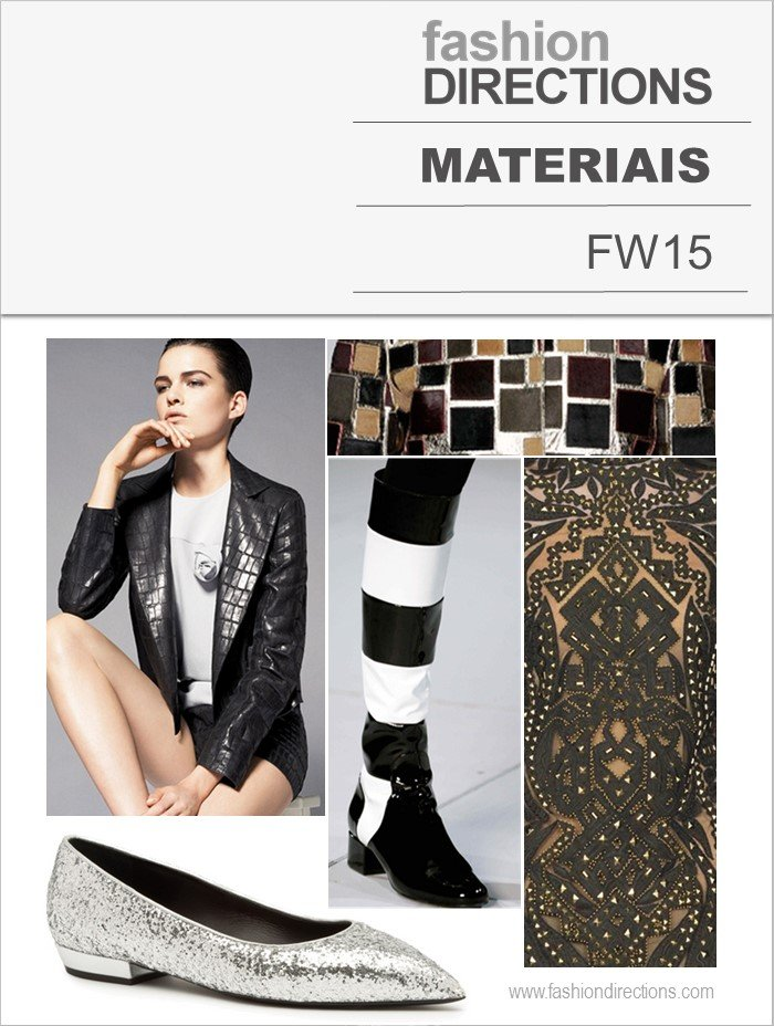 Materiais Tendências Inverno 2015 Fashion Directions