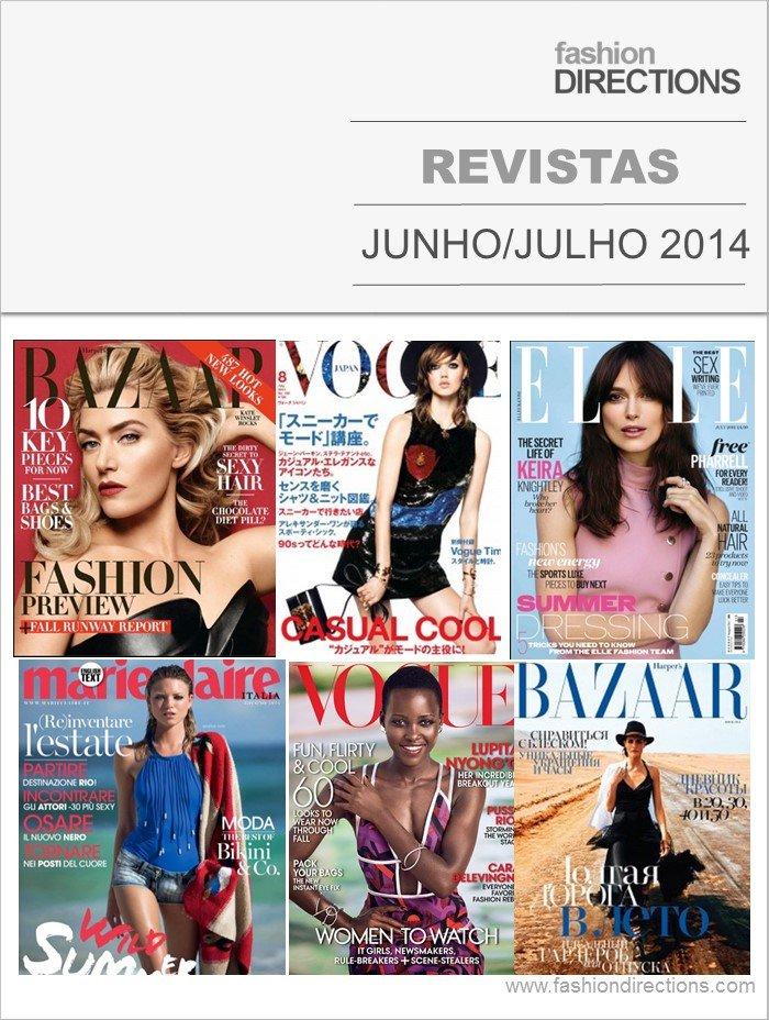 Revistas Internacionais Junho- Julho 2014 Fashion Directions