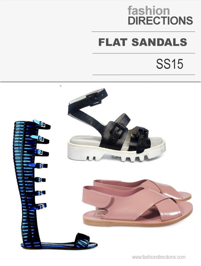 Flat Sandals SS15 Fashion Directions