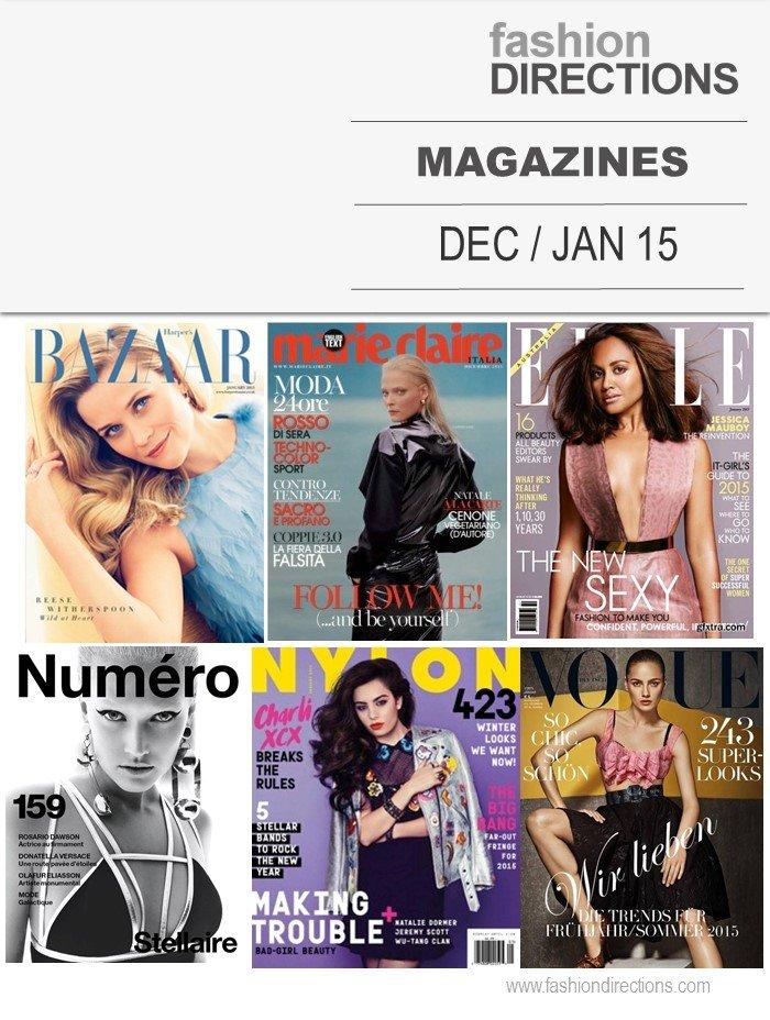 Fashion Magazines December 2014 January 2015