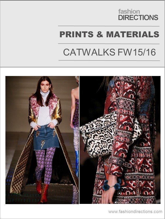 Key Materials & Prints Catwalks FW15/16