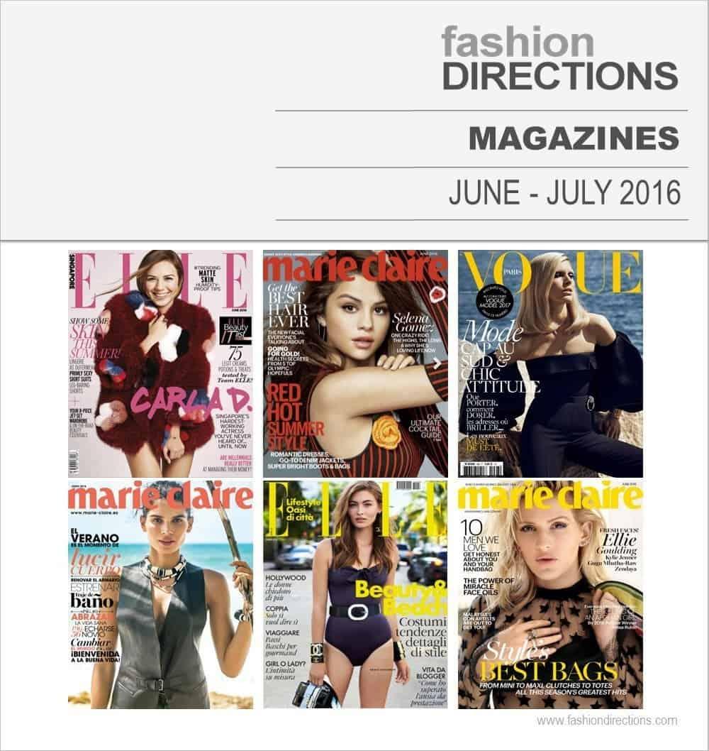 Fashion Editorials Magazines June July 2016