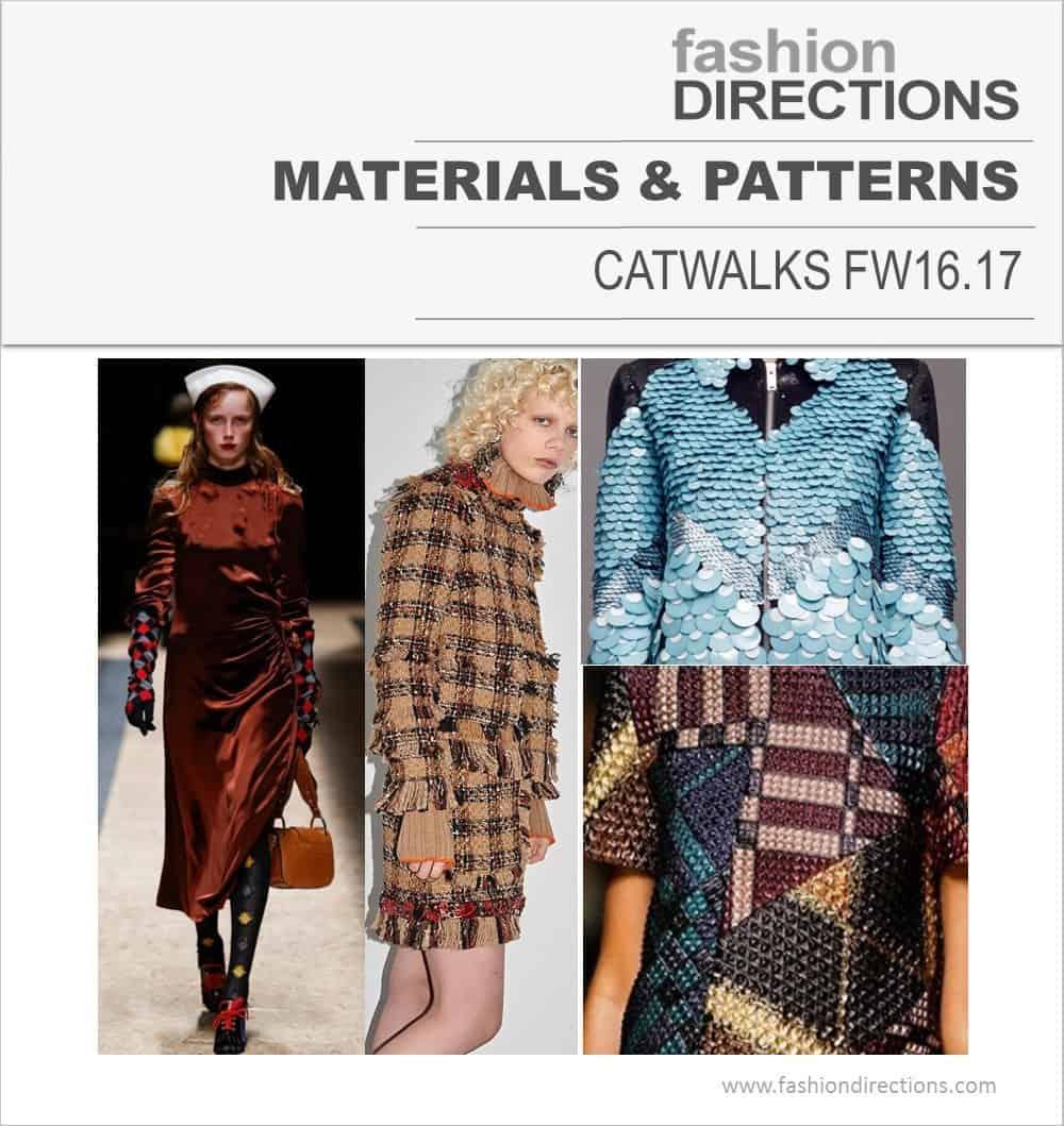 Key Prints & Materials Catwalks FW16/17