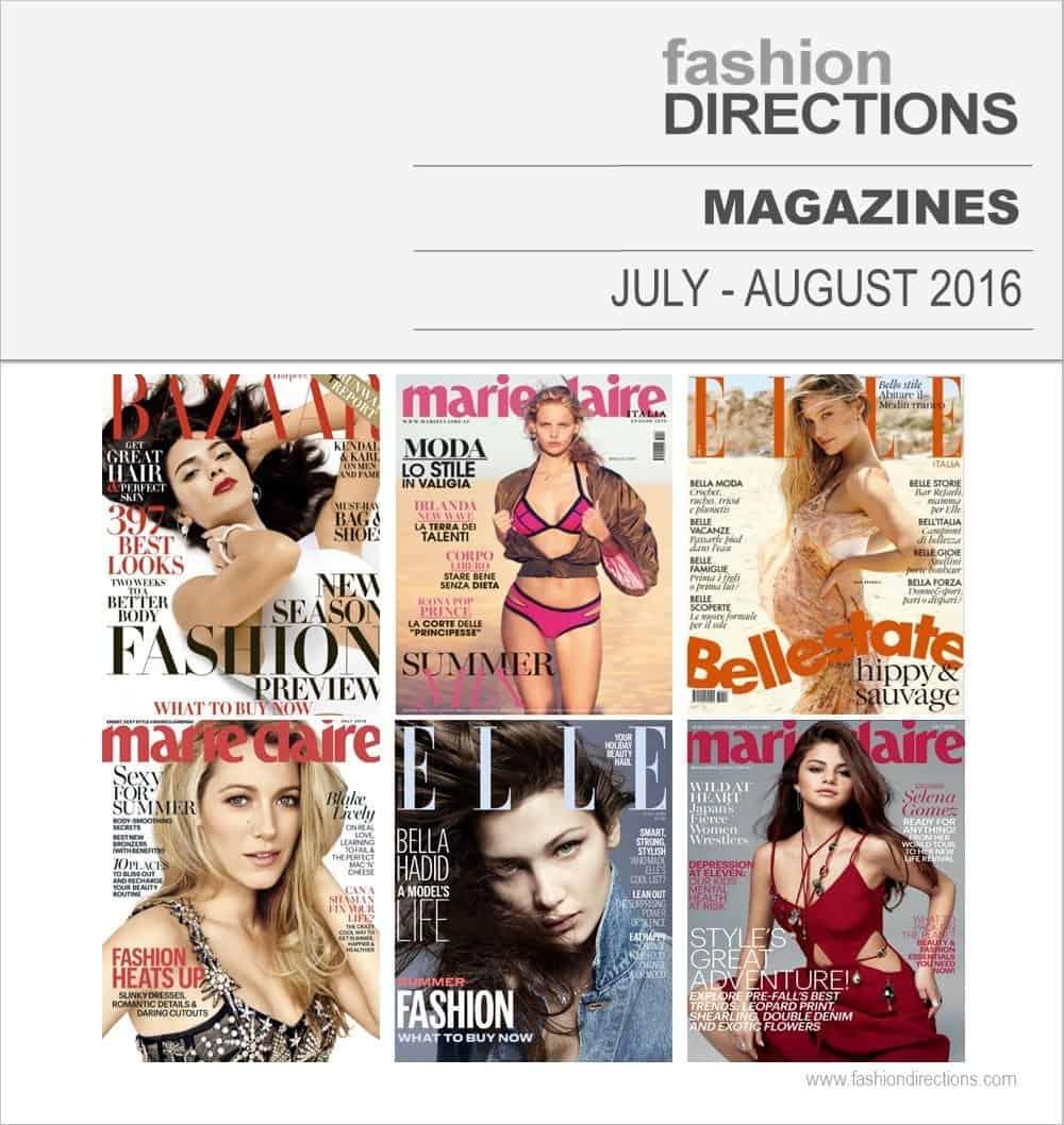 Fashion Magazines Jul-Aug 2016