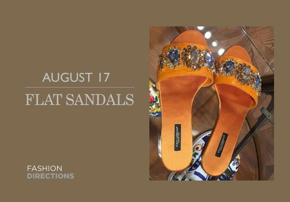 Flat Sandals August 2016