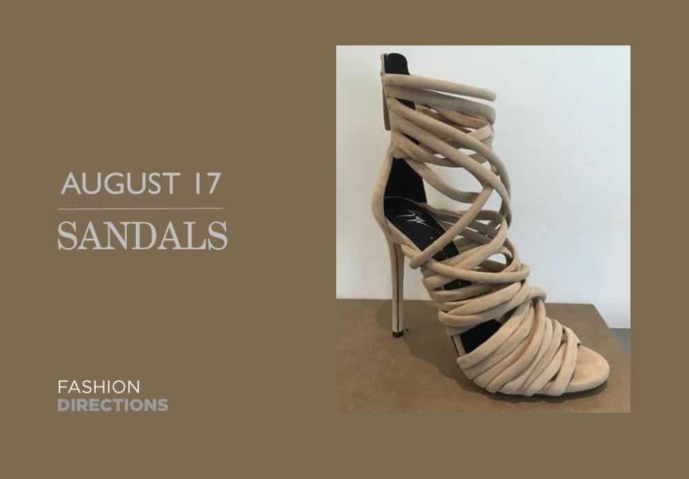 Sandals August 2016