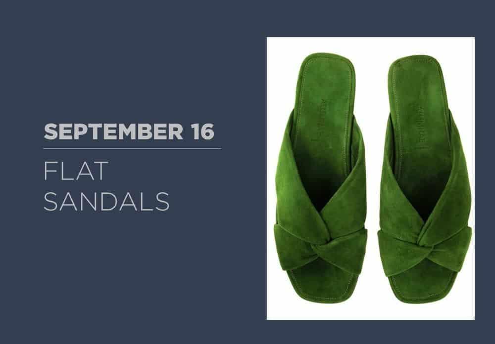 Flat Sandals September 2016