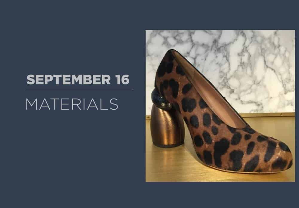 Shoes Materials September 2016