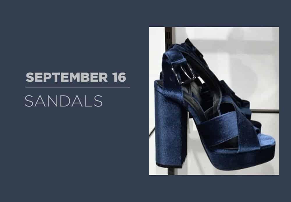 Sandals September 2016
