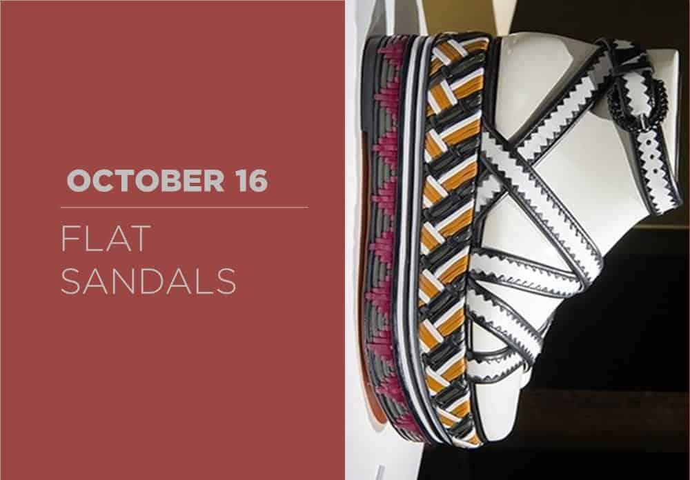 Flat Sandals October 2016