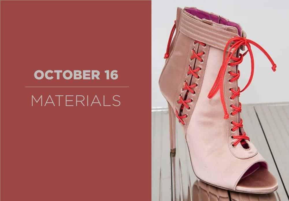 Shoes Materials October 2016