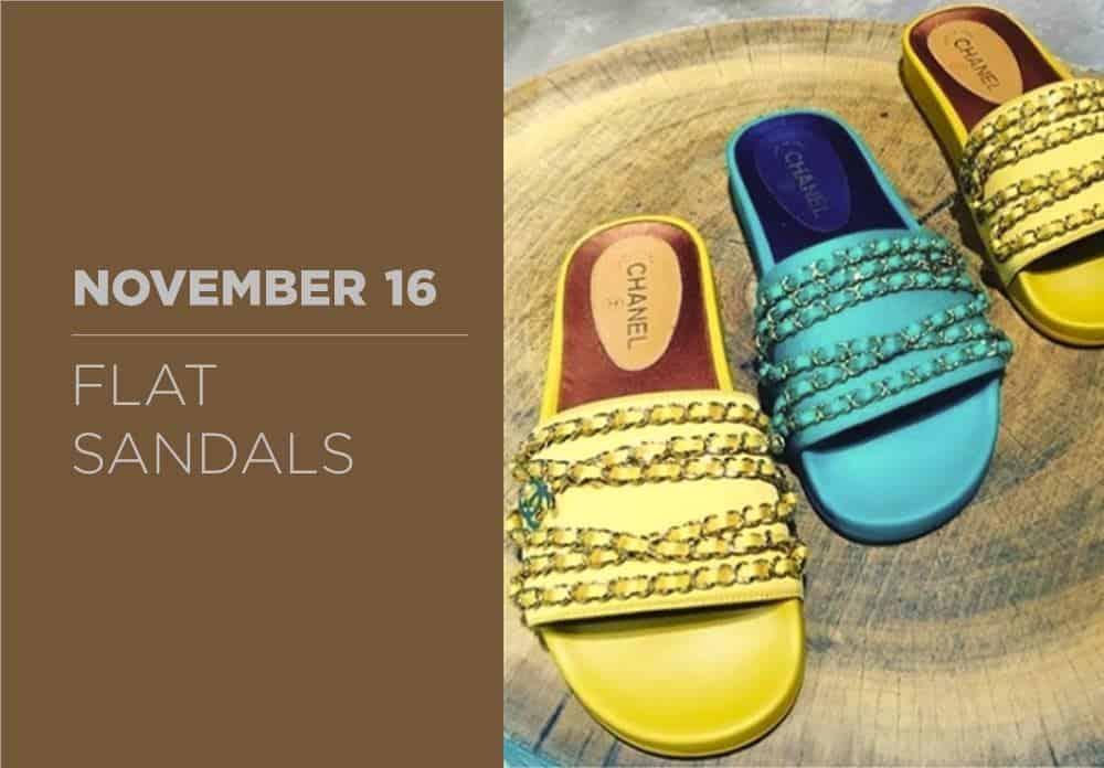 Flat Sandals November 2016