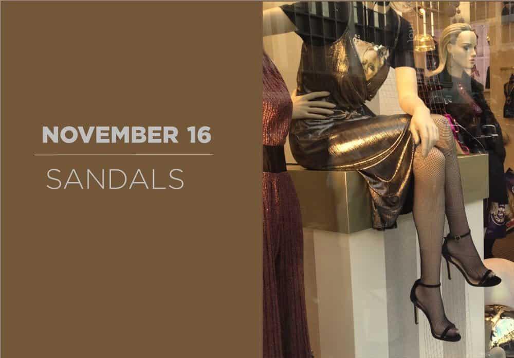 Sandals November 2016