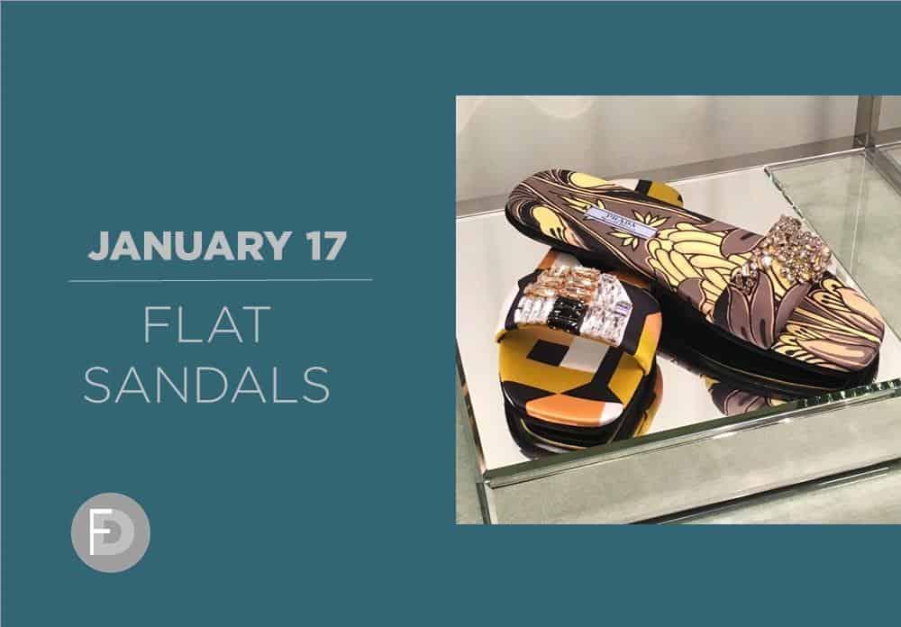 Flat Sandals January 2017