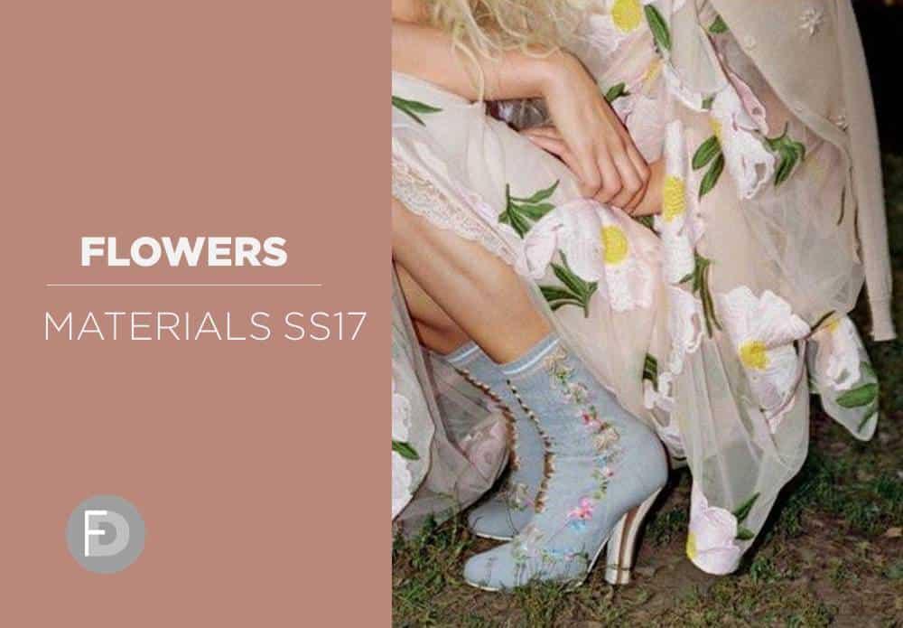 Flowers Materials Hot Trends SS17