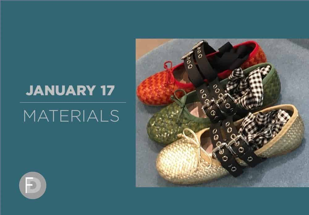 Shoes Materials January 2017