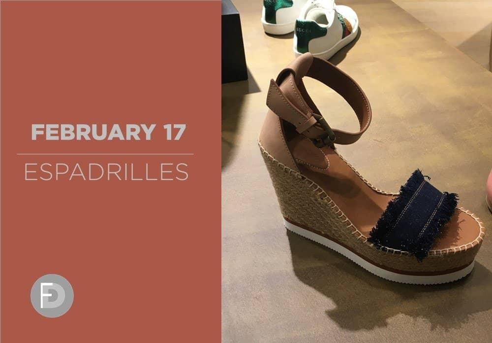 Espadrilles February 2017