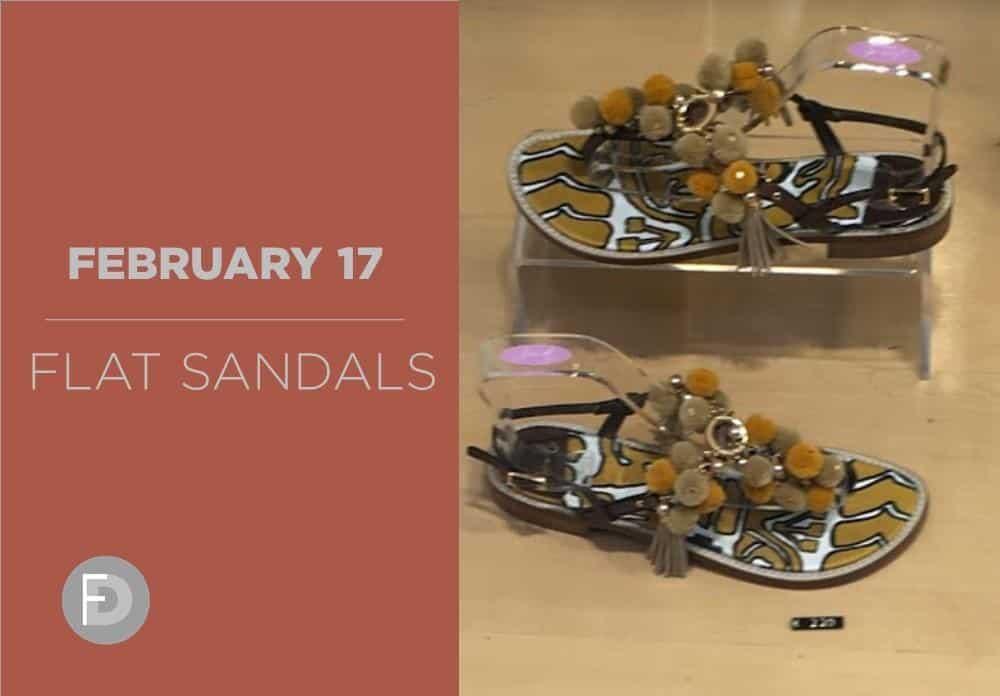 Flat Sandals February 2017