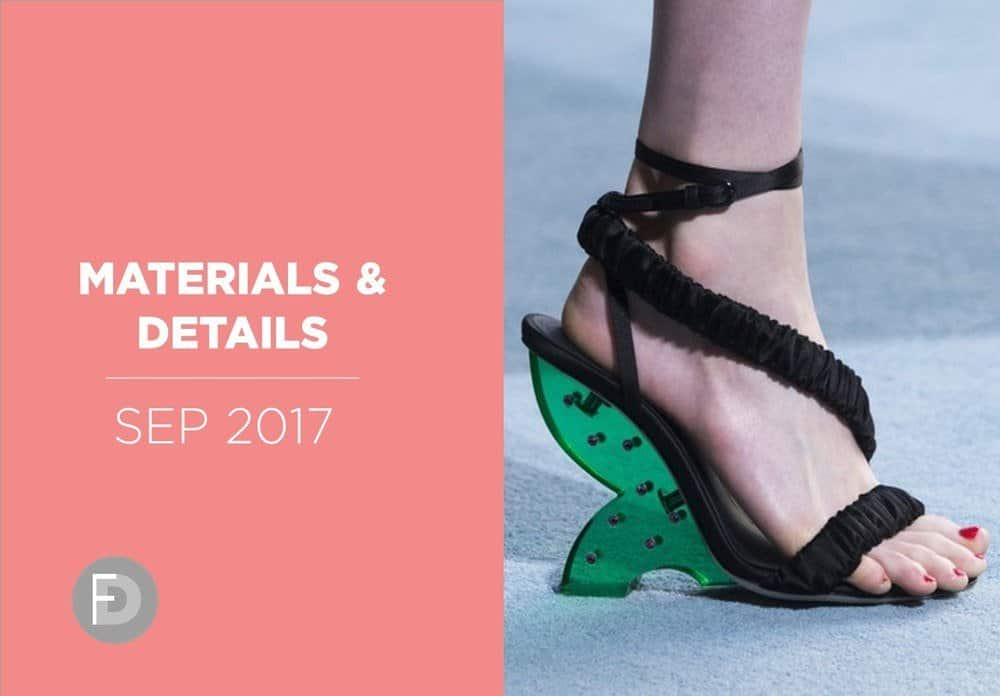 Shoes Materials And Details September 2017