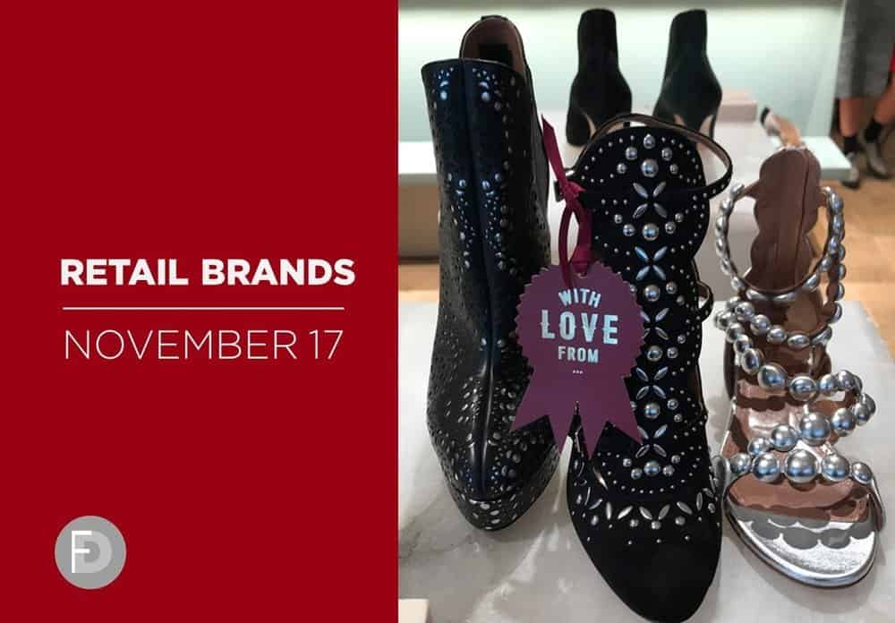retail shoes brands november 2017