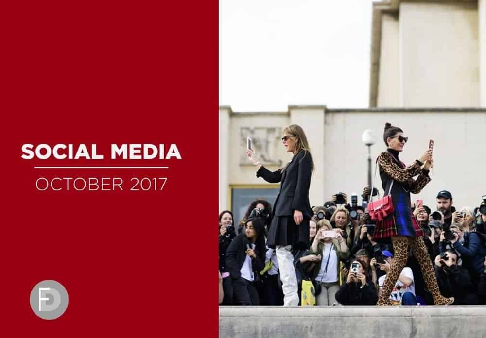 social media fashion october 2017