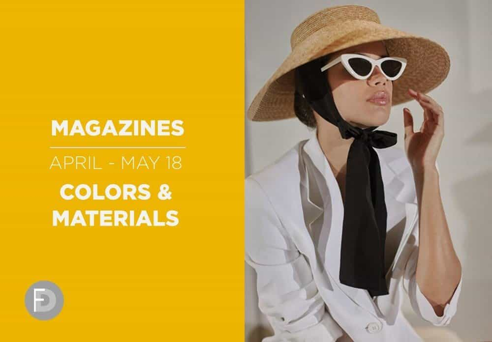 SS18 fashion magazines colors materials