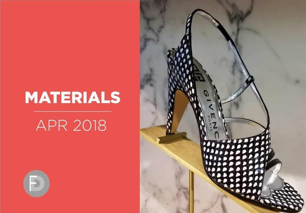 shoes material april 2018