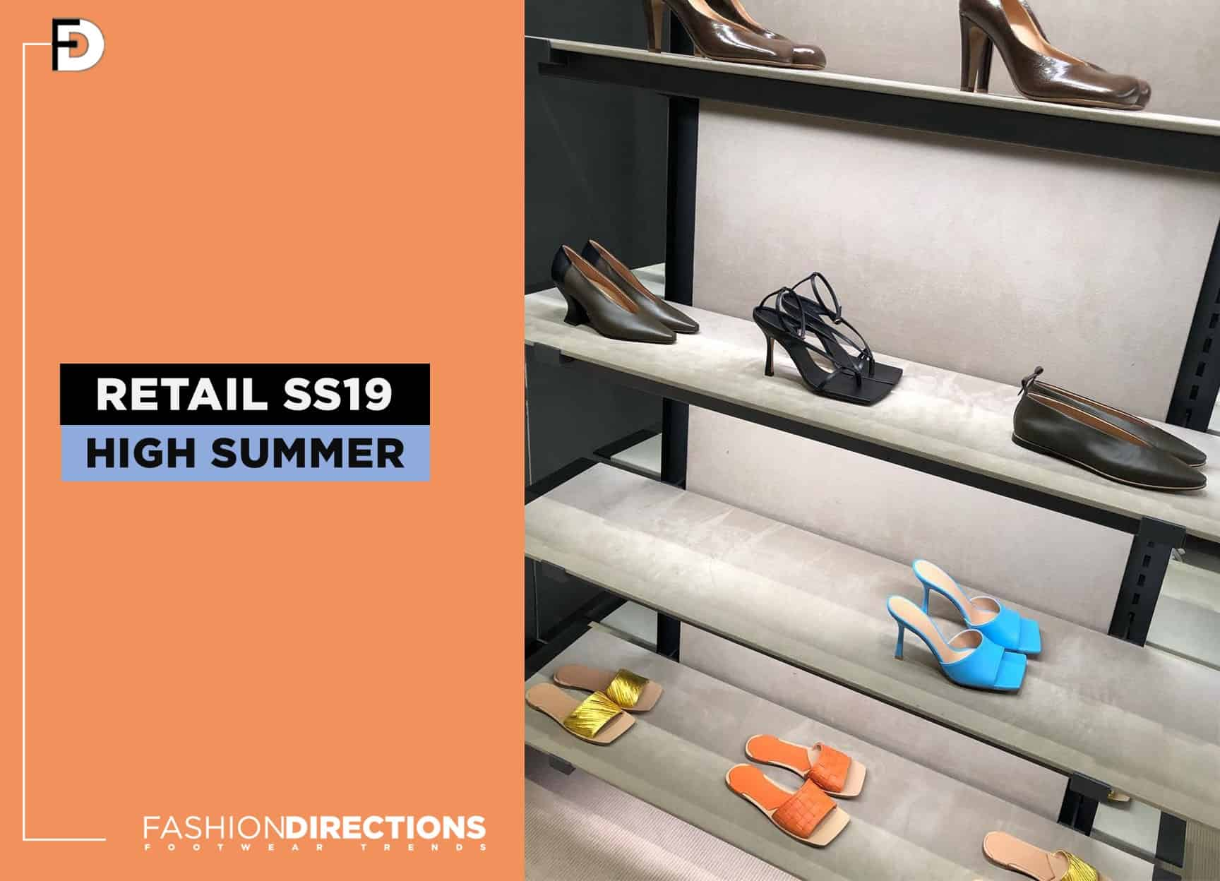 SS19 Womens shoes in retail stores June 2019 trends 1